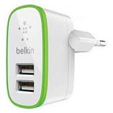 Belkin  220V-USB, 2-port, 10W, 5-5.5V 2*2A 220-USB