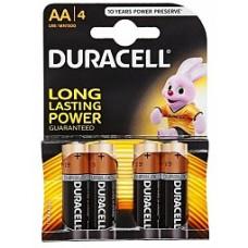 Duracell  батарейка АА LR06 MN1500 4 BL