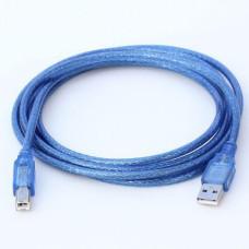 AM/BM 3м USB (до принтерів) прозорий синій