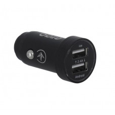 ERGO ECC-224 Mini 2.4A 2xUSB Car Charger (Black)