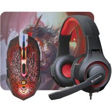 Ігровий набір DEFENDER (52003) DragonBorn MHP-003 миша + гарнітура + килим