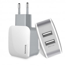 Baseus  USB Wall Charger 2xUSB Letour 2.4A White/Gray