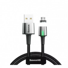 Baseus (1м) Zinc Magnetic Cable USB For Micro 2.4A Black CAMXC-A01